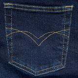 Jeans pocket. Highly detailed shot of jeans pocket royalty free stock photo