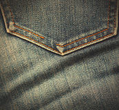 Jeans pocket as envelope Royalty Free Stock Photos