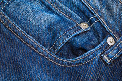 Jeans pocket for background Royalty Free Stock Photo