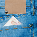 Jeans pocket with banknotes Stock Photography
