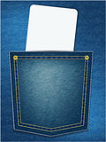 Jeans pocket with blank card Royalty Free Stock Image