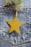 Jeans pocket. Stock Photography