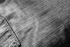 Jeans with pocket with blur effect in black and white. Royalty Free Stock Images
