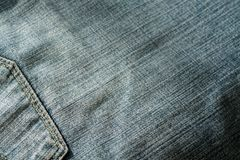 Jeans with pocket with blur effect. Royalty Free Stock Image