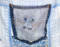 Jeans Pocket. Stock Photography