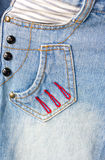 Jeans Pocket. Royalty Free Stock Images