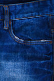 Jeans pocket in close up Stock Photos