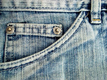 Jeans pocket detail Stock Photo