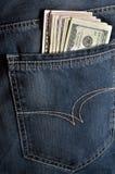 Pocket and money Royalty Free Stock Photo