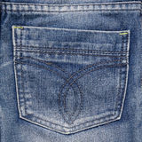 Jeans pocket. Fragment of jeans. Royalty Free Stock Photography