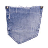 Jeans pocket. Isolated on white background royalty free stock images