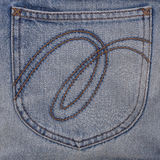 Jeans pocket on jean texture  for pattern Stock Image