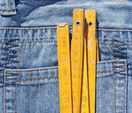 Jeans pocket and meter Stock Images