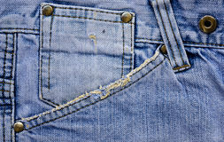 Jeans pocket Royalty Free Stock Photography