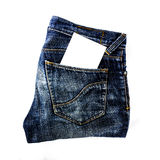 Jeans pocket with paper Stock Photo