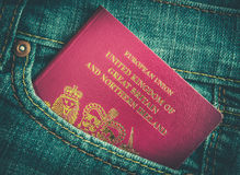Jeans Pocket Passport Royalty Free Stock Photo