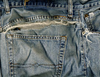 Jeans pocket & rip Stock Photo