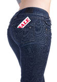 Jeans pocket sale Royalty Free Stock Images