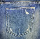 Jeans pocket tear Stock Image