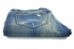 Jeans pocket tear Royalty Free Stock Image