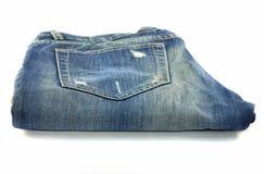 Jeans pocket tear Royalty Free Stock Image