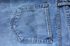 Jeans pocket - textures Stock Images