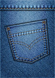 Jeans Pocket. Vector background of blue jeans Royalty Free Stock Photos