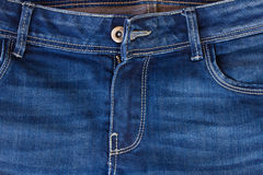 Jeans pocket and zipper Royalty Free Stock Photography