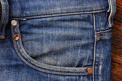 Jeans pockets. аbstract background of shabby and worn jeans. Horizontal photo Royalty Free Stock Photography