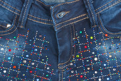 Jeans with pockets close-up Stock Images
