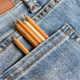 Jeans pockets with pencils Royalty Free Stock Images