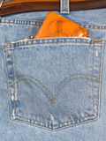 Jeans with a purse Stock Images