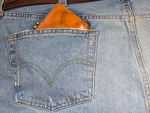 Jeans with a purse Stock Photos