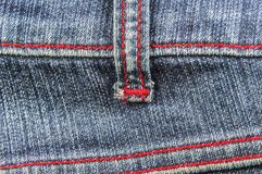 Jeans with red thread Royalty Free Stock Photo