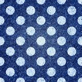 Jeans retro seamless polka-dot background. Vector Stock Photography