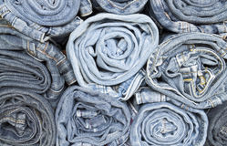 Jeans rolls stack Stock Photography