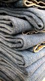 Jeans's pile Royalty Free Stock Images