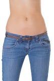 Jeans s'usants de fuselage de femme Photo stock
