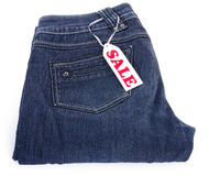 Jeans for sale Royalty Free Stock Image