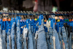 Jeans for Sale Royalty Free Stock Photography