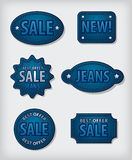 Jeans sale badges Royalty Free Stock Images