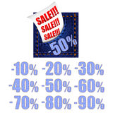 Jeans sale banner Stock Images