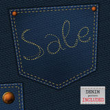 Jeans sale Stock Images