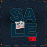 Jeans sale Royalty Free Stock Photos