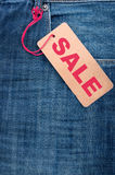 Jeans With Sale Tag Royalty Free Stock Photos