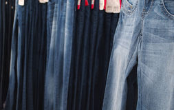 Jeans selling Stock Photography