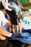 Jeans Sewing Machine Stock Images