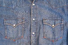 Jeans shirt with chest pockets Stock Photography