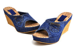 Jeans shoes Royalty Free Stock Photography