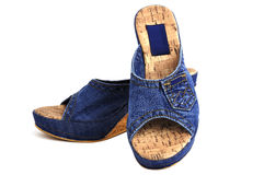 Jeans shoes Stock Photo
